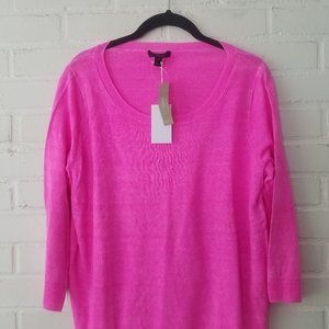 J. Crew 1090 NWT Summerweight Linen Sweater pink s
